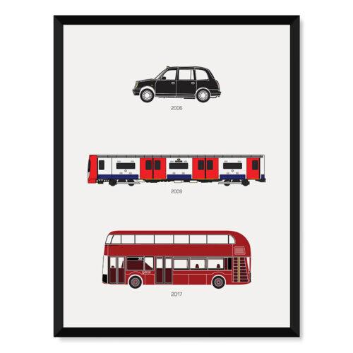 London Transport Print Art Poster - Rear View Prints