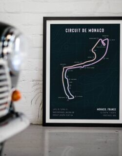Monte Carlo • Monaco Race Track • F1 Art Poster • Rear View Prints