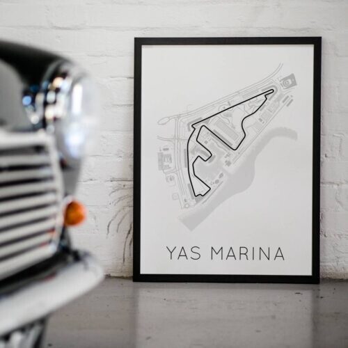 Yas Marina F1 Track Poster Art Print - Rear View Prints