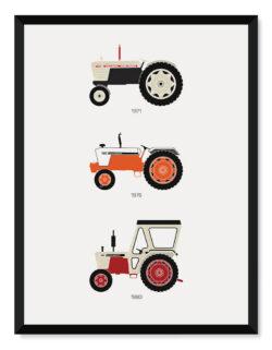 British Tractors Print - Art Poster - Rear View Prints