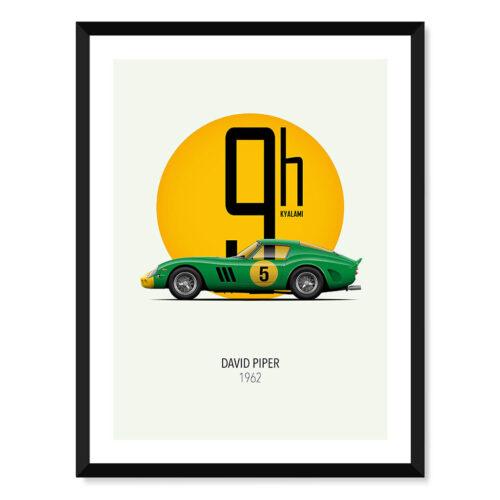 Ferrari 250 GTO - Car Poster - Art Print - Rear View Prints