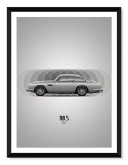 Aston Martin DB5 • Car Poster • Art Print • Rear View Prints