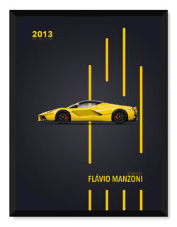 LaFerrari Project 150 - Car Poster - Art Print - Rear View Prints