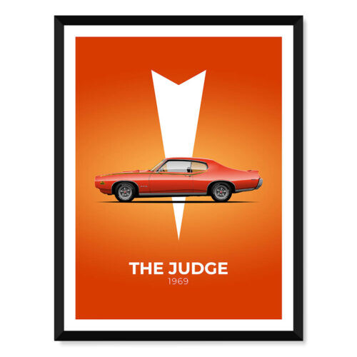 Pontiac GTO 2 - Car Poster - Art Print - Rear View Prints