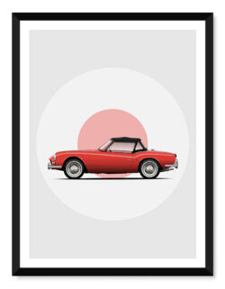 Triumph Spitfire • Car Poster • Art Print • Rear View Prints