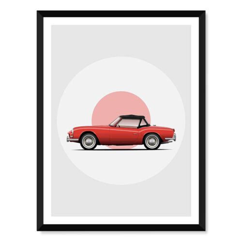 Triumph Spitfire • Car Poster • Art Print • Rear View Prints