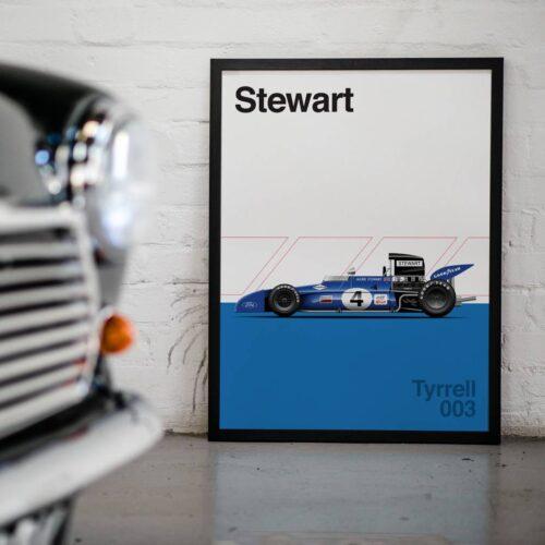 Tyrell 003 F1 Poster Car Art Print - Rear View Prints