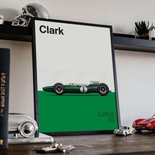 Lotus 33 F1 Poster Car Art Print - Rear View Prints