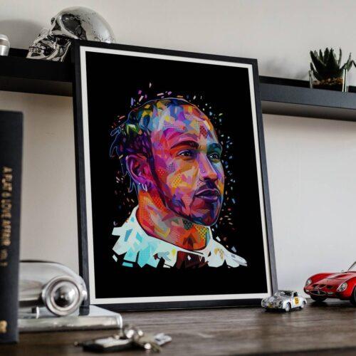 Lewis Hamilton - Car Poster - Art Print - Rear View Prints