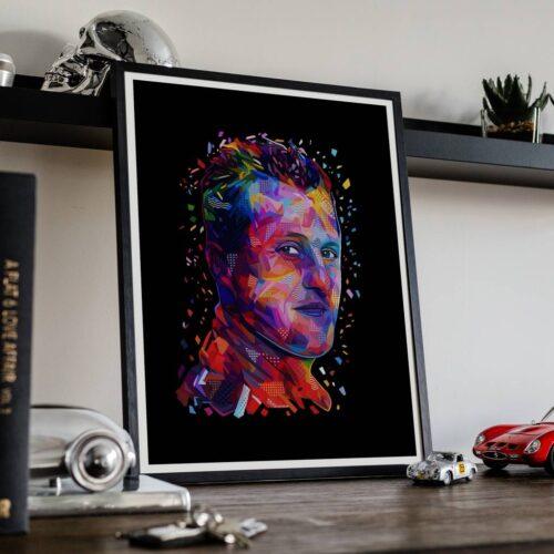 Michael Schumacher - Portrait Poster - Art Print - Rear View Prints