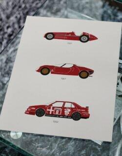 Alfa Romeo - Car Poster - Art Print - Rear View Prints