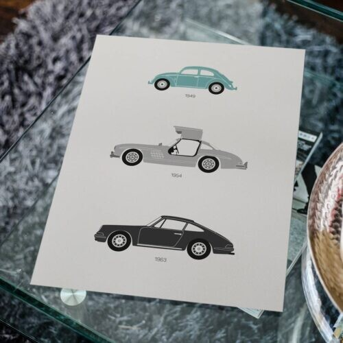 German F1 Car Poster Art Print - Rear View Prints