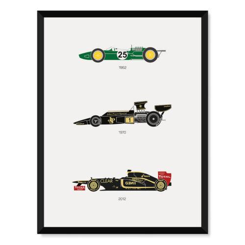 Lotus F1 - Car Poster - Art Print - Rear View Prints