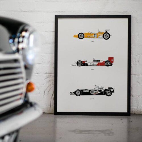 McLaren F1 - Car Poster - Art Print - Rear View Prints