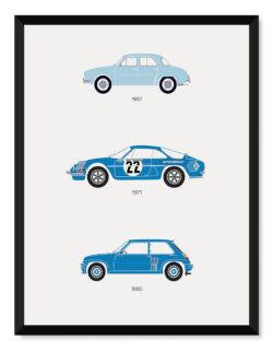 Renault - Car Poster - Art Print - Rear View Prints