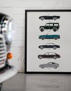 British Royal Cars - Car Poster - Art Print - Rear View Prints