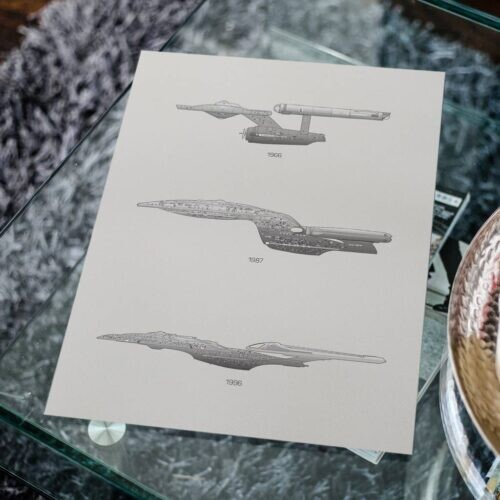 Star trek- Car Poster - Art Print - Rear View Prints
