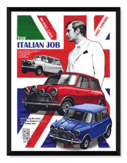 The Italian Job - Car Poster - Art Print - Rear View Prints