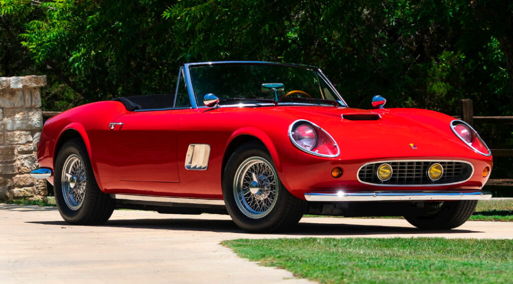 Ferrari 250 GT California Spyder from Ferris Buellers Day off, famous movie cars.