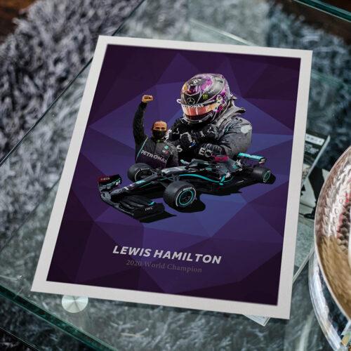Lewis Hamilton • F1 Poster • Art Print • Rear View Prints