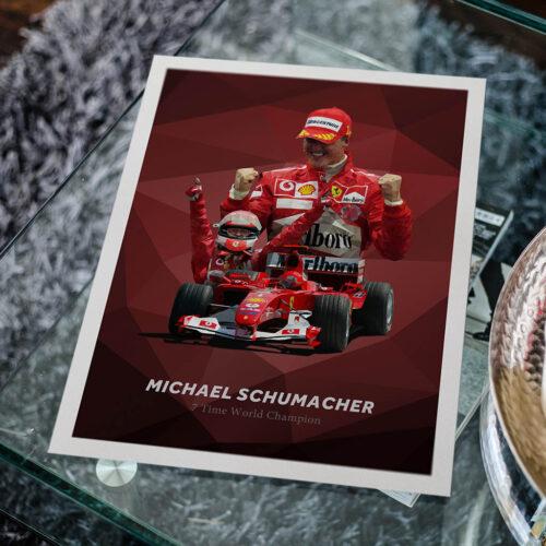 Michael Schumacher • F1 Poster Art Print • Rear View Prints