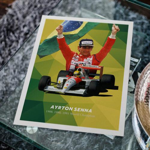 Ayrton Senna • F1 Poster Art Print • Rear View Prints