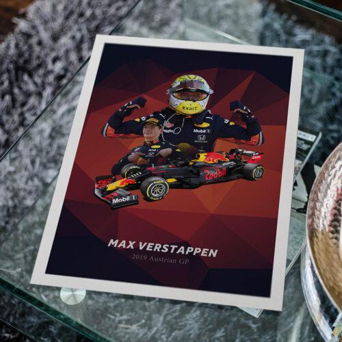 Max Verstappen • F1 Poster Art Print • Rear View Prints