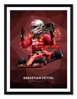 Sebastian Vettel • F1 Poster Art Print • Rear View Prints
