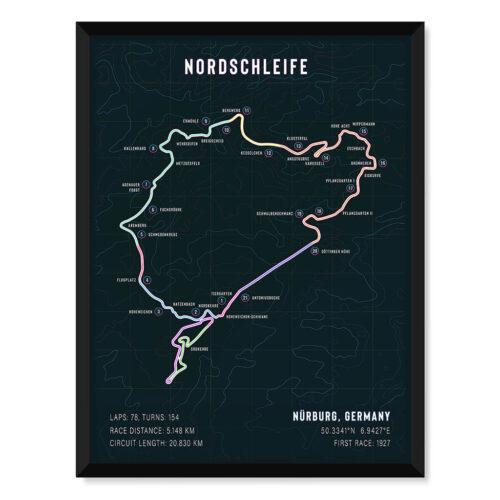 Vintage Hazards • Nordschleife Track Art Poster • Rear View Prints