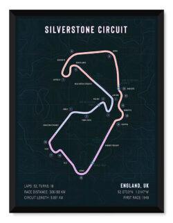 Prestigious Formula Silverstone Poster • F1 Art Poster • Rear View Prints