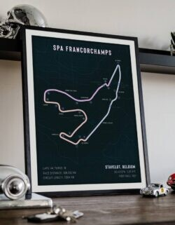 Spa Francorchamps - Race Track Poster - Art Print - Rear View Prints
