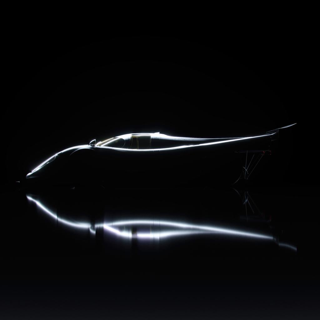 graphic design car in shadow, model is a porsche 917k