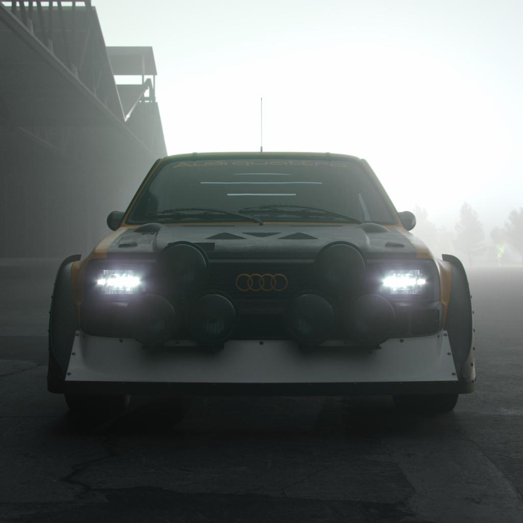 a front end view of a graphic design car redesign of the audi S3