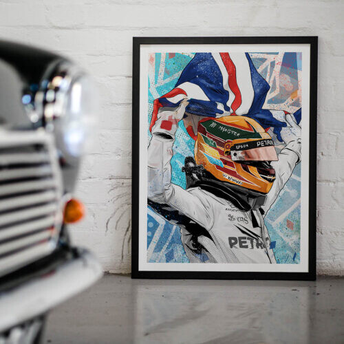 Lewis Hamilton F1 Poster - Art Print - Rear View Prints