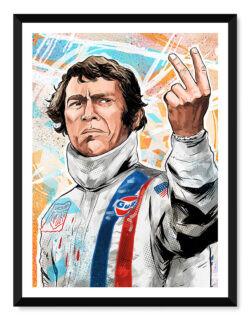 Steve McQueen • F1 Poster • Art Print • Rear View Prints