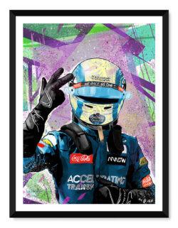 Lando Norris - F1 Poster - Art Print - Rear View Prints