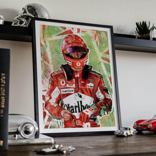 Michael Schumacher Poster - Car F1 Poster - Art Print - Rear View Prints