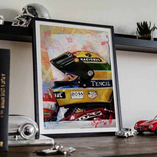 Ayrton Senna F1 Poster - Art Print - Rear View Prints