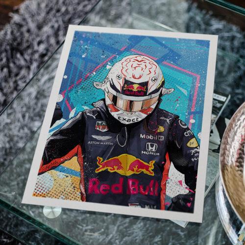 Max Verstappen - F1 Poster - Art Print - Rear View Prints
