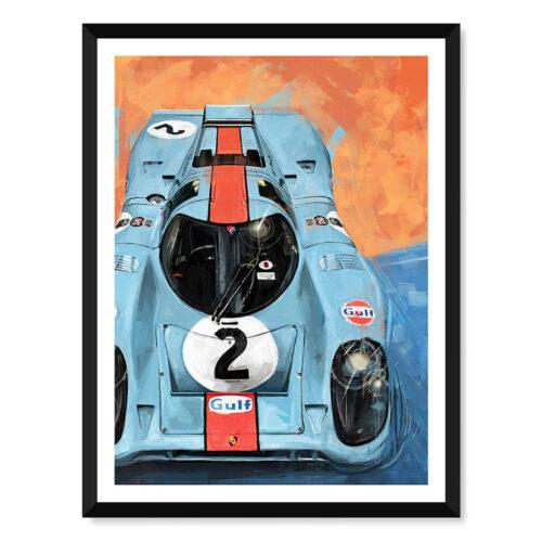 Porsche 917 - Car Poster - Art Print - Rear View Prints