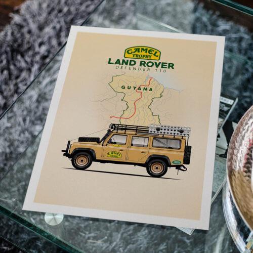 Land Rover Defender • 4x4 Poster • Art Print • Rear View Prints