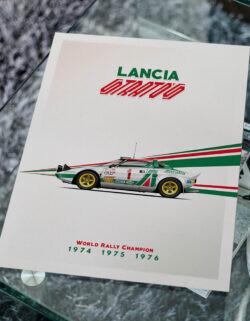 Lancio Stratos - Car Poster - Art Print - Rear View Prints