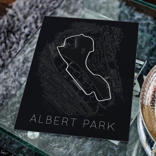 Albert Park Race Track Poster - Art Print - Rear View Prints