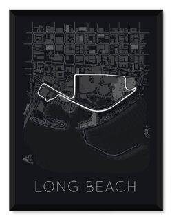 Long Beach Race Track Poster - Art Print - Rear View Prints
