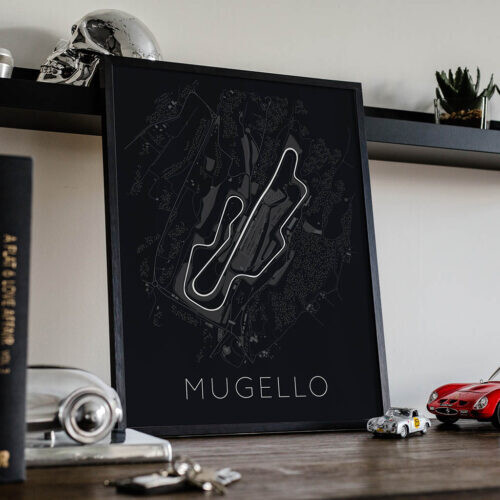 Mugello Race Track Poster - Art Print - Rear View Prints