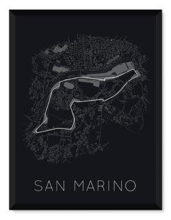 San Marino Grand Prix - Race Track Poster - Art Print - Rear View Prints