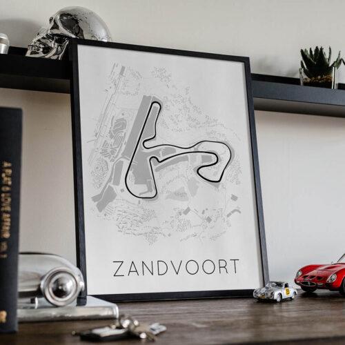 Zandvoort Race Track Poster - Art Print - Rear View Prints