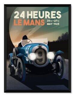 Circuit De La Sarthe 1923 • Le Mans • Car Art Poster • Rear View Prints
