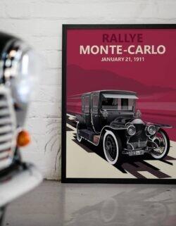 Rallye Monte Carlo '11 • Car Art Poster • Rear View Prints
