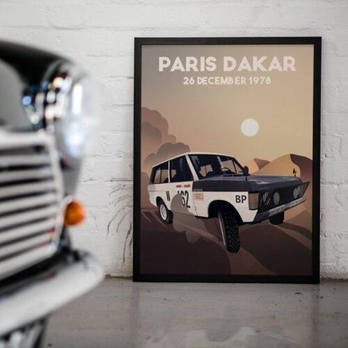Paris-Dakar 1978 • Dakar Rally • Car Art Poster • Rear View Prints